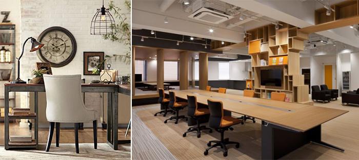 Văn phòng theo phong cách Vintage đơn giản