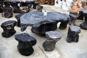 bàn ghế đá phong thủy