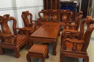 bàn ghế gỗ phòng khách đồng kỵ