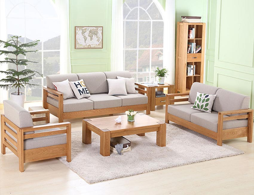 Kích thước thiết kế của sofa và bàn trà không nên quá thấp.