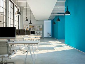 cách phối màu ấn tượng cho văn phòng