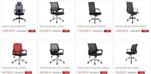 ghế xoay văn phòng được dùng nhiều