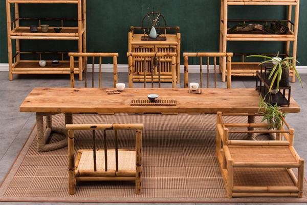 mẫu bàn ghế bằng tre