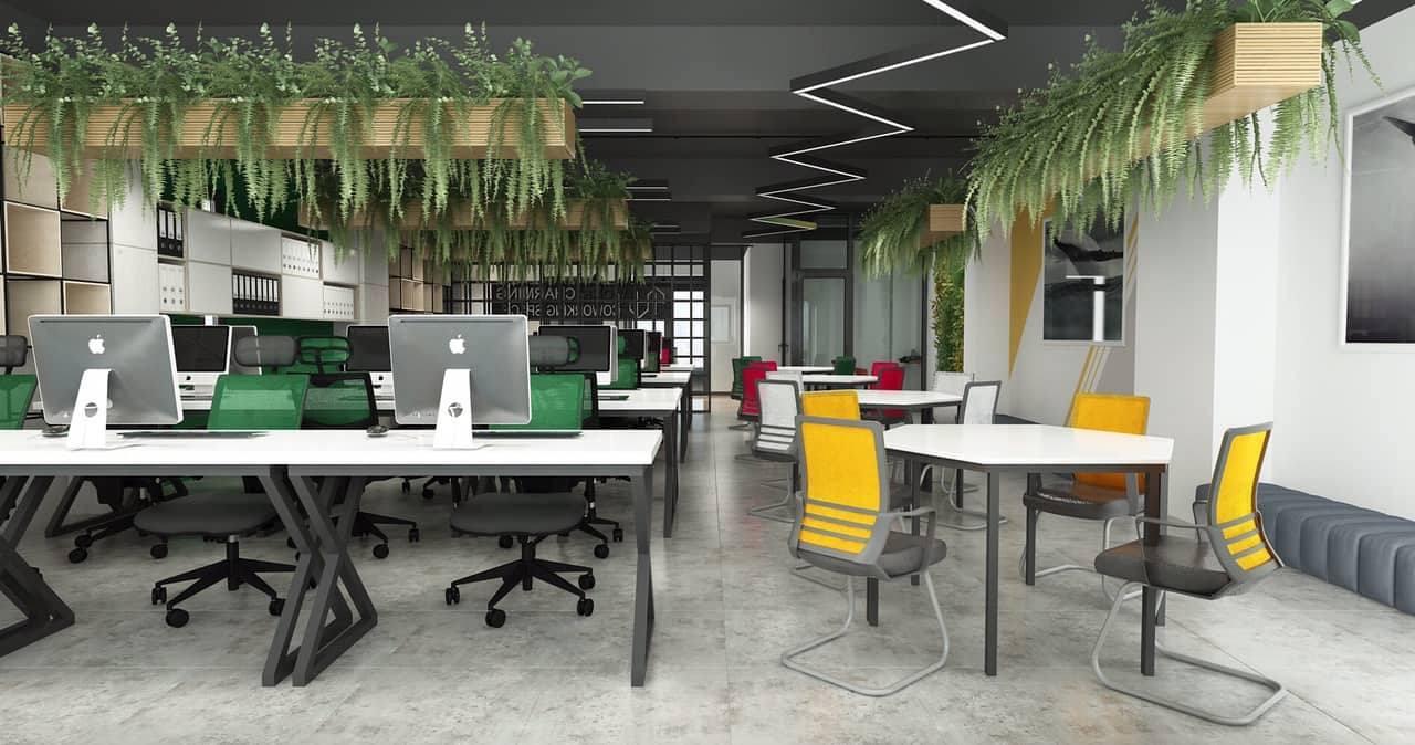 Trang trí nội thất hiện đại với không gian xanh và đèn chiếu sáng cách điệu