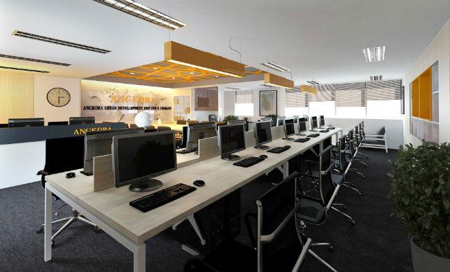 Thiết kế văn phòng làm việc theo phong cách mở hiện đại