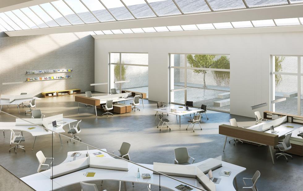 Mẫu thiết kế văn phòng theo xu hướng hiện đại với không gian làm việc tối ưu