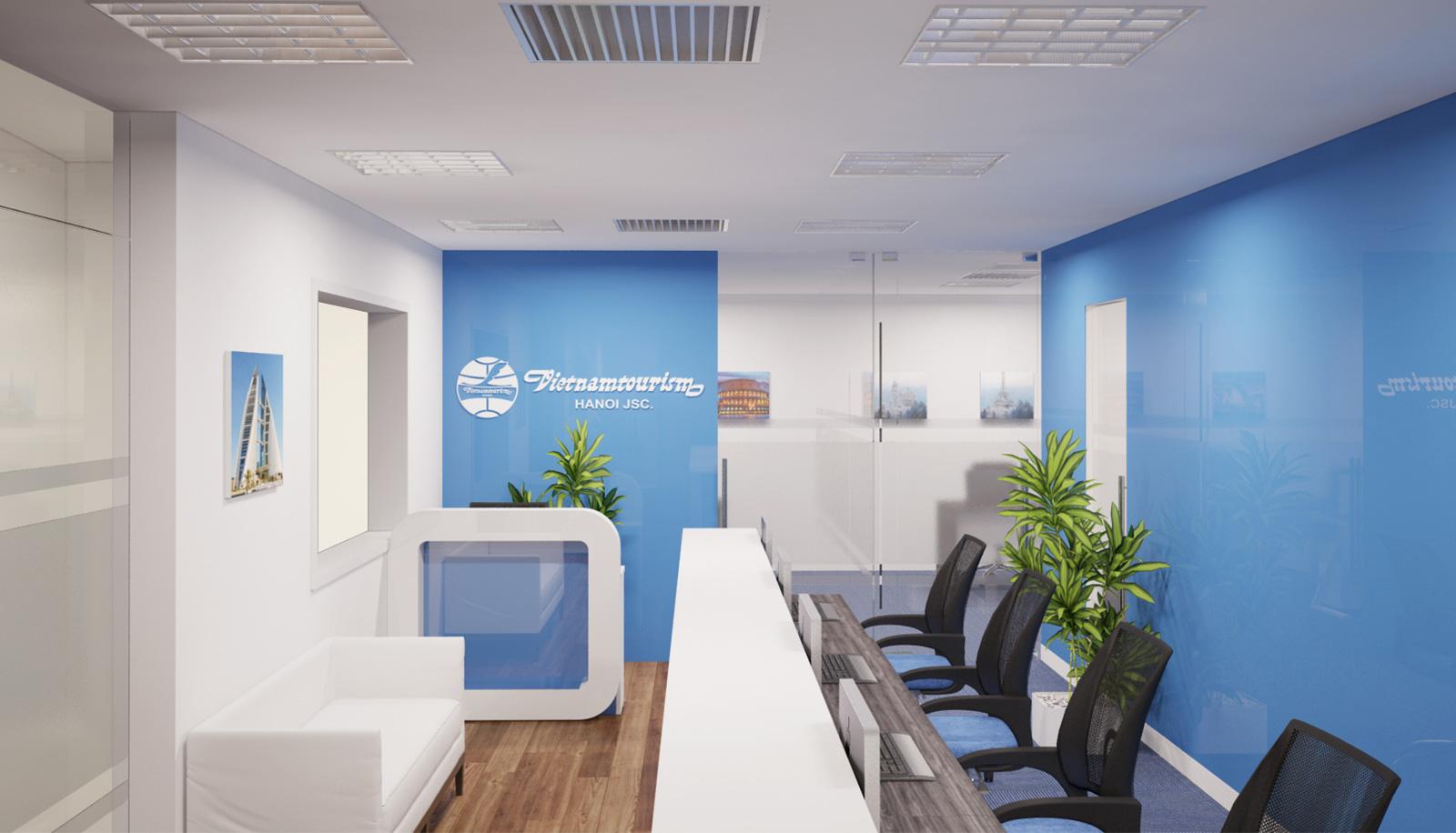 thiết kế văn phòng theo xu hướng hiện đại 1
