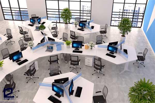 Thiết kế văn phòng theo kiểu tổ ong