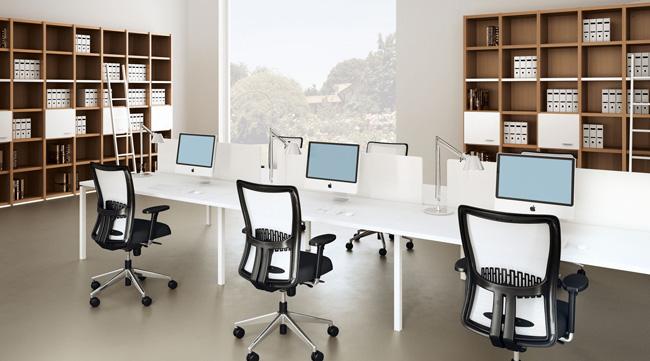 Văn phòng hiện đại với gam màu sáng trẻ truong