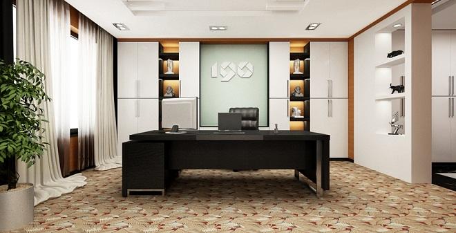 Nội thất văn phòng giám đốc Hòa Phát
