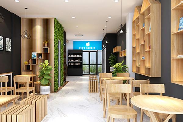 bàn ghế cafe bằng gỗ