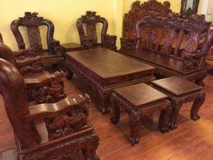 bàn ghế gỗ cho phòng khách