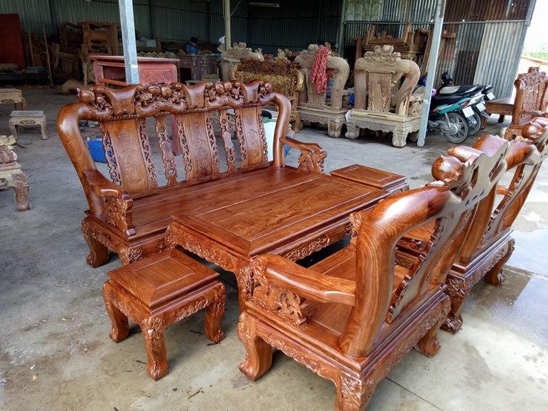 bàn ghế gỗ hương