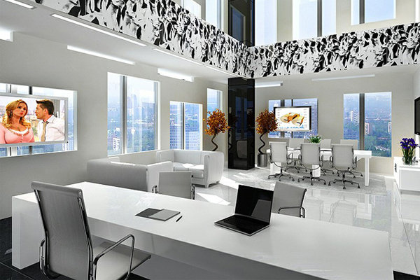 bố trí thiết kế nội thất văn phòng