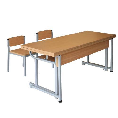 bộ bàn ghế học sinh bán trú gỗ tự nhiên BBT103G GBT103G
