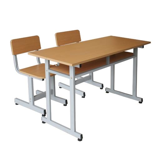 bộ bàn ghế học sinh gỗ tự nhiên bhs110g ghs110g