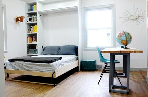 cách bố trí phòng ngủ 15m2