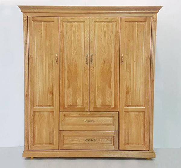 tủ gỗ tự nhiên 4 buồng gỗ sồi mỹ