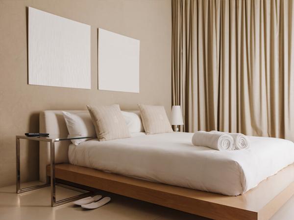 phòng ngủ nho3 9m2 tối giản