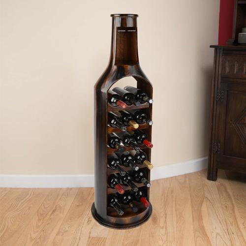 tủ rượu có hình dáng chai rượu độc đáo