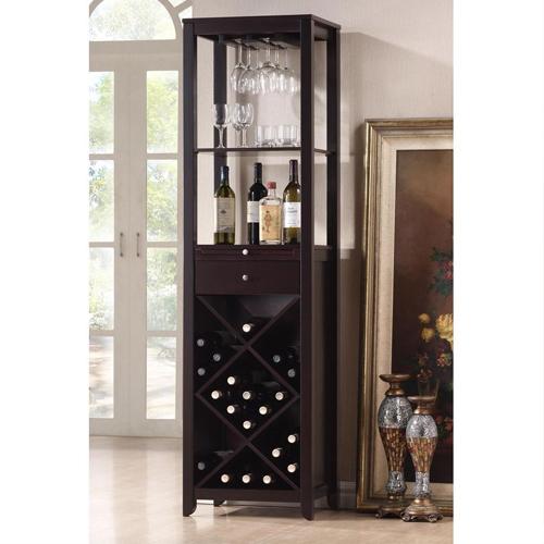 tủ rượu gỗ tự nhiên cao