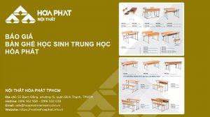 Báo giá Bàn ghế học sinh trung học Hòa Phát