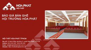 Báo giá Bàn ghế hội trường Hòa Phát