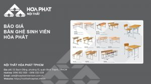 Báo giá Bàn ghế sinh viên Hòa Phát