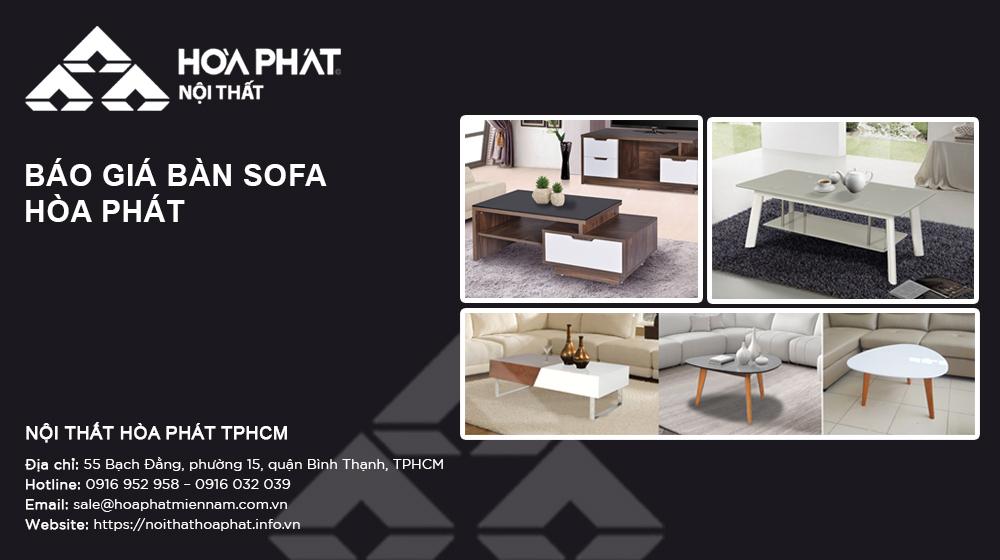 Báo giá Bàn sofa Hòa Phát