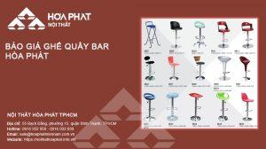 Báo giá Ghế quầy bar Hòa Phát