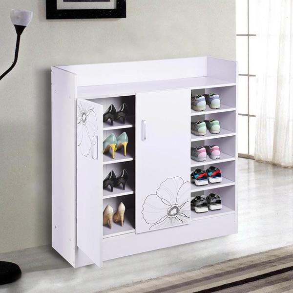 tủ giày gỗ công nghiệp - shoes cabinet design