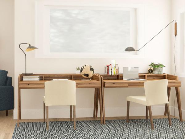 bàn học đôi gỗ tự nhiên