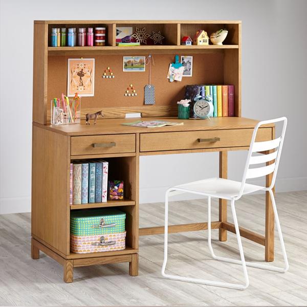 bàn học liền giá sách gỗ ép
