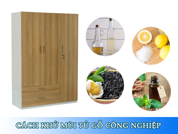 cách khử mùi tủ gỗ công nghiệp