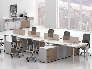 cụm bàn làm việc 8 người