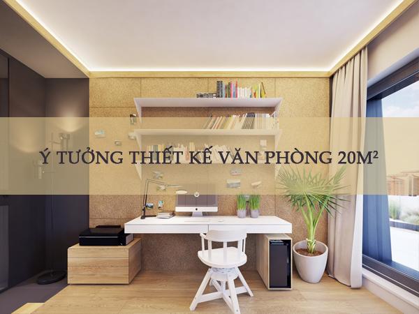 thiết kế văn phòng 20m2