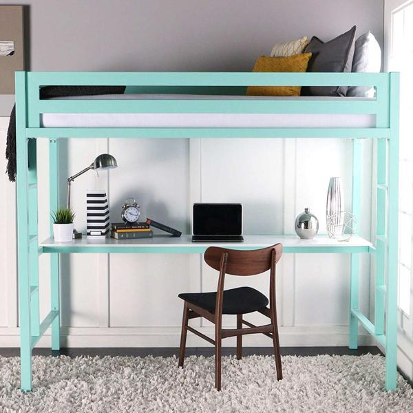 giường tầng kết hợp bàn làm việc
