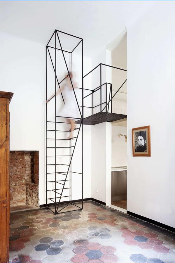 mẫu cầu thang sắt gác lửng