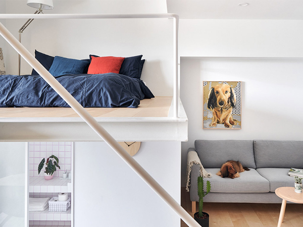 mẫu phòng ngủ trên gac xép