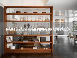 mẫu tủ vách ngăn phòng khách và bếp