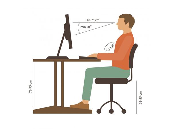 tư thế ngồi máy tính không bị đau lưng