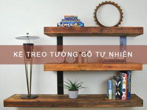 Kệ treo tường gỗ tự nhiên