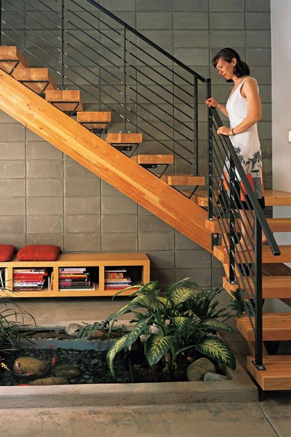 mẫu cầu thang gỗ đơn giản đẹp