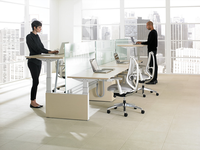thiết kế bàn làm việc công ty