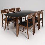 bàn ghế ăn BA505BK8-GA505