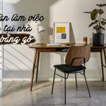 bàn làm việc tại nhà bằng gỗ
