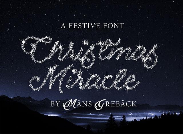 font việt hóa đẹp 2020 Christmas Miracle