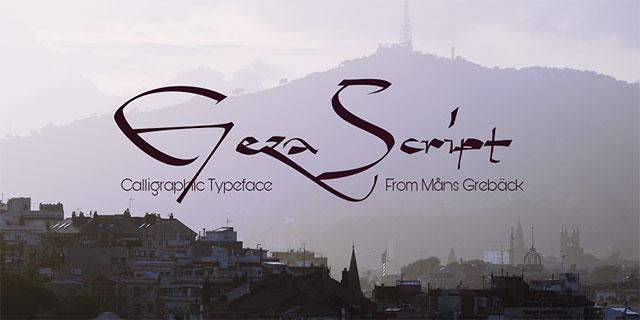 font việt hóa đẹp 2020 Geza Script