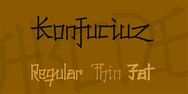 font việt hóa đẹp 2020 Konfuciuz