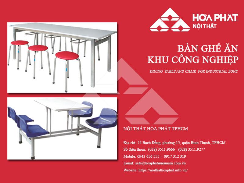 Catalogue Bàn ghế ăn khu công nghiệp